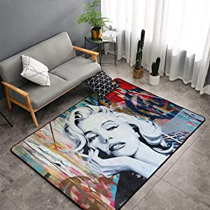 Bedroom Living Room Kitchen Big Carpet 60 X 39 in Yoga Mat Home Decorator Floor Rug