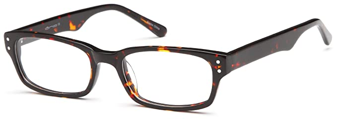 3a06b28c27 Amazon.com  Prescription Glasses Frames Rxable in Tortoise w Studs ...