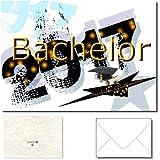 "DigitalOase ""Bachelor 2017"" Glückwunschkarte 1 Klappkarte incl. 1 weißes Kuvert GROSS UND EINDRUCKSVOLL DIN A5 (aufgeklappt DIN A4: ca. 20 x 30 cm) - aussen Glanzdruck - innen gut beschriftbar - DigitalOase ist Markenware"