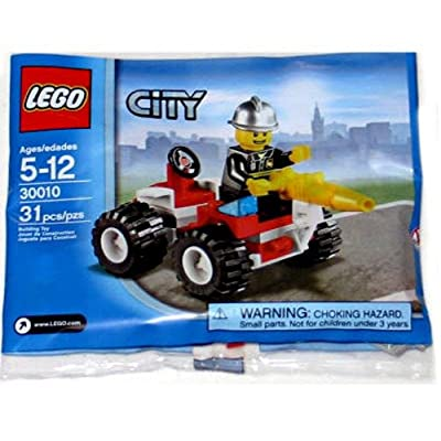 LEGO City Exclusive Mini Figure Set #30010 Fire Chief Bagged: Toys & Games