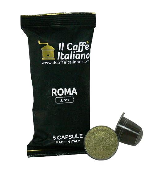 100 Cápsulas de Café compatibles Nespresso sabor Café Roma, 100 Cápsulas compatible con maquinas Nespresso