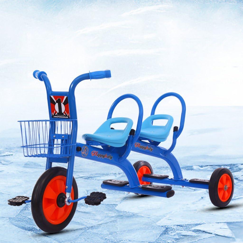 WLWWY Triciclo para Niños, Asa De Bicicleta Trike Asientos Gemelos para Bebés, Niños Pequeños, Automóviles De Juguete, Gemelos, Automóviles Al Aire Libre