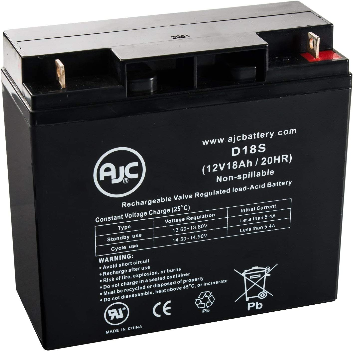 APC BackUPS PRO 1400 12V 18Ah UPS Battery This is an AJC Brand Replacement
