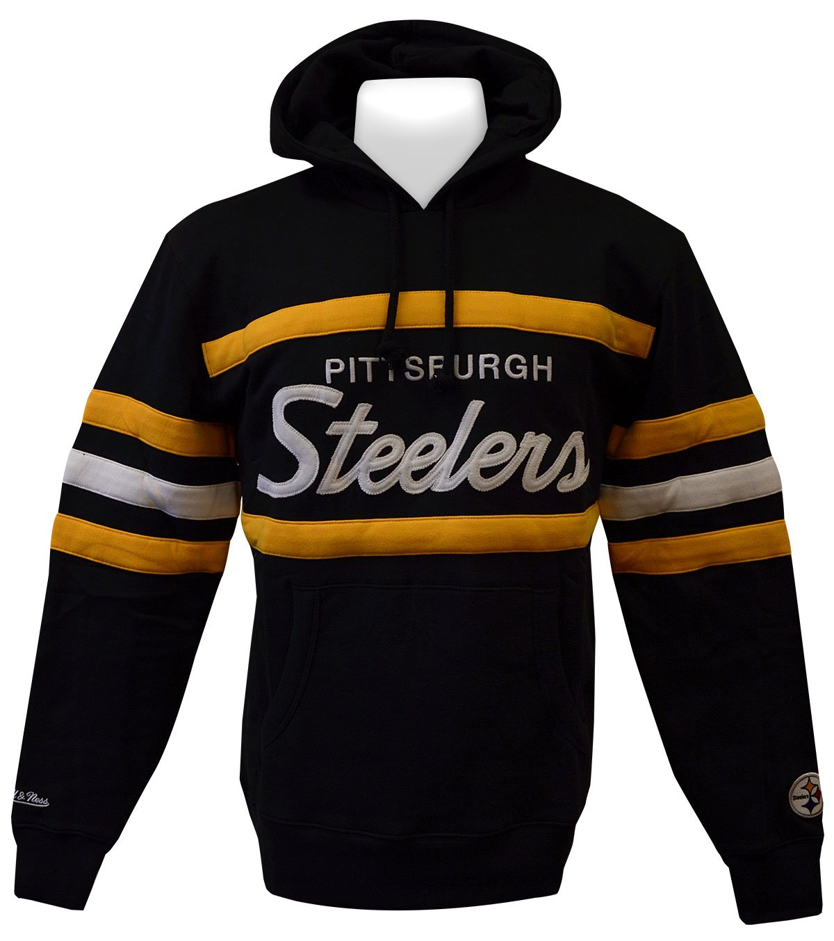 newest 939c6 f31e5 Pittsburgh Steelers Mitchell & Ness Head Coach Pullover ...