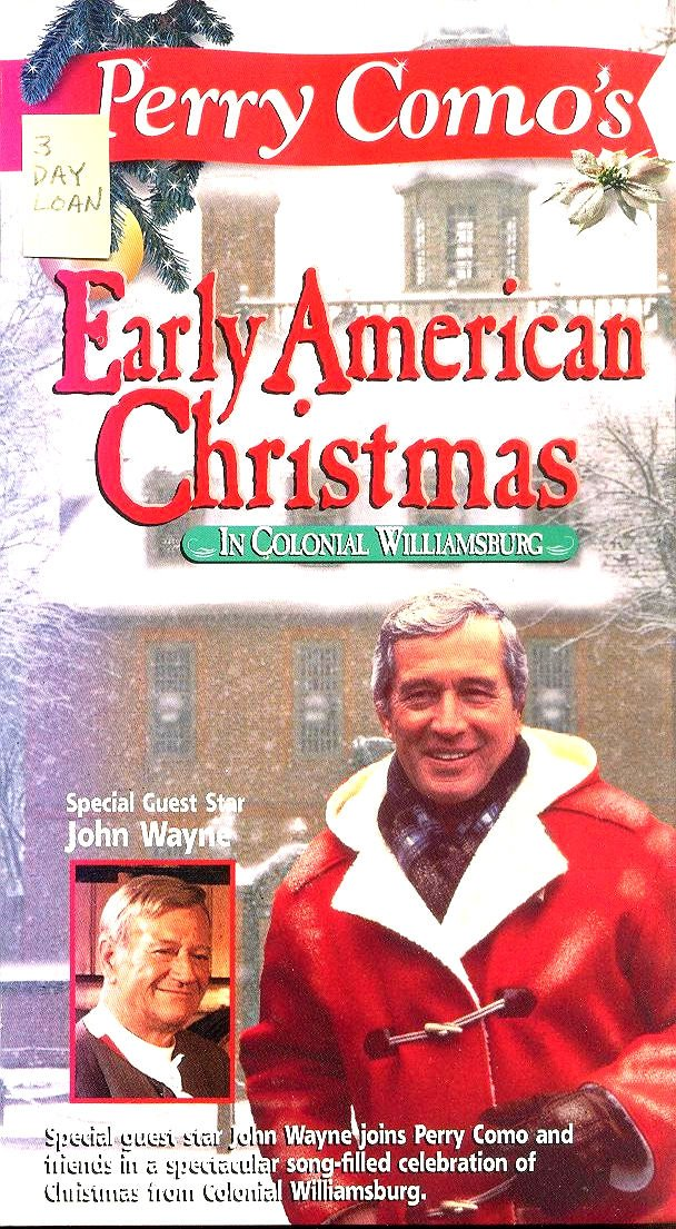 Amazon.com: Perry Como\'s Early American Christmas [VHS]: Perry Como ...