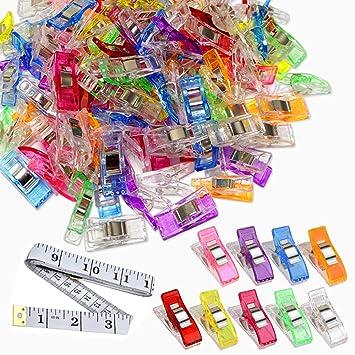 AYRSJCL 50 Pcs Craft color/é Couture Quilt Binding Clips en Plastique Pinces Couleur al/éatoire