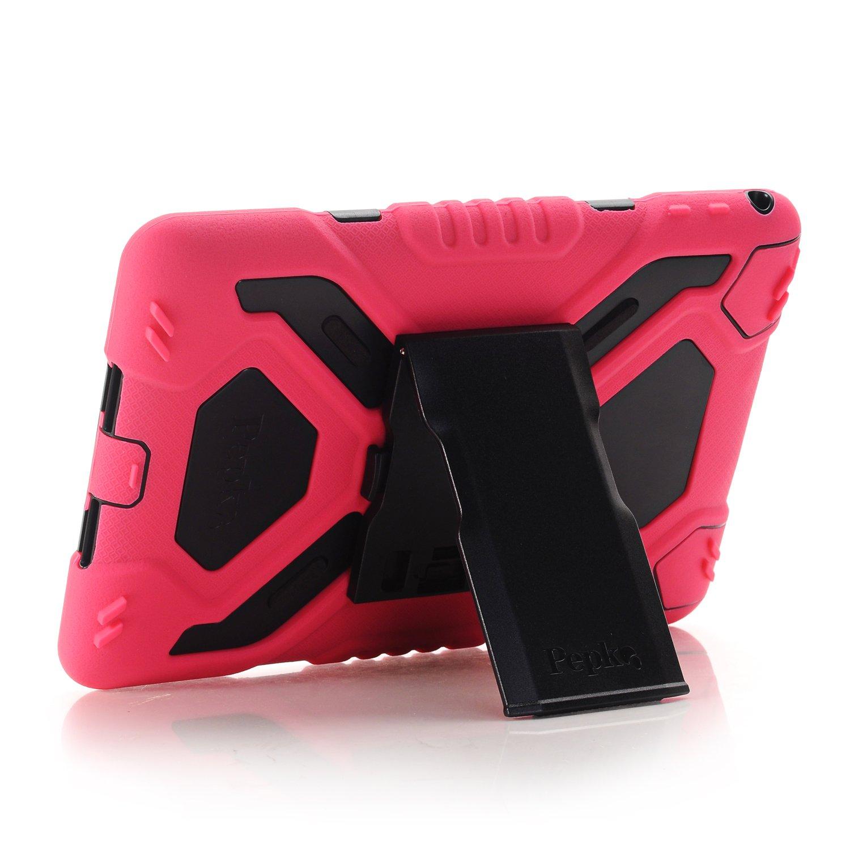 Meiya iPad Air 2 Coque,New Robuste Rsistant aux Chocs salet Neige Sable Proof Survivor Extreme Heavy Duty Etui iPad Air 2 Enfant Cadeau Pochette pour iPad Air 2 iPad 6 Rouge+noir