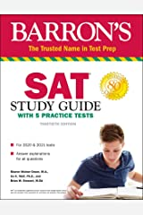 SAT Study Guide with 5 Practice Tests (Barron's Test Prep) Paperback