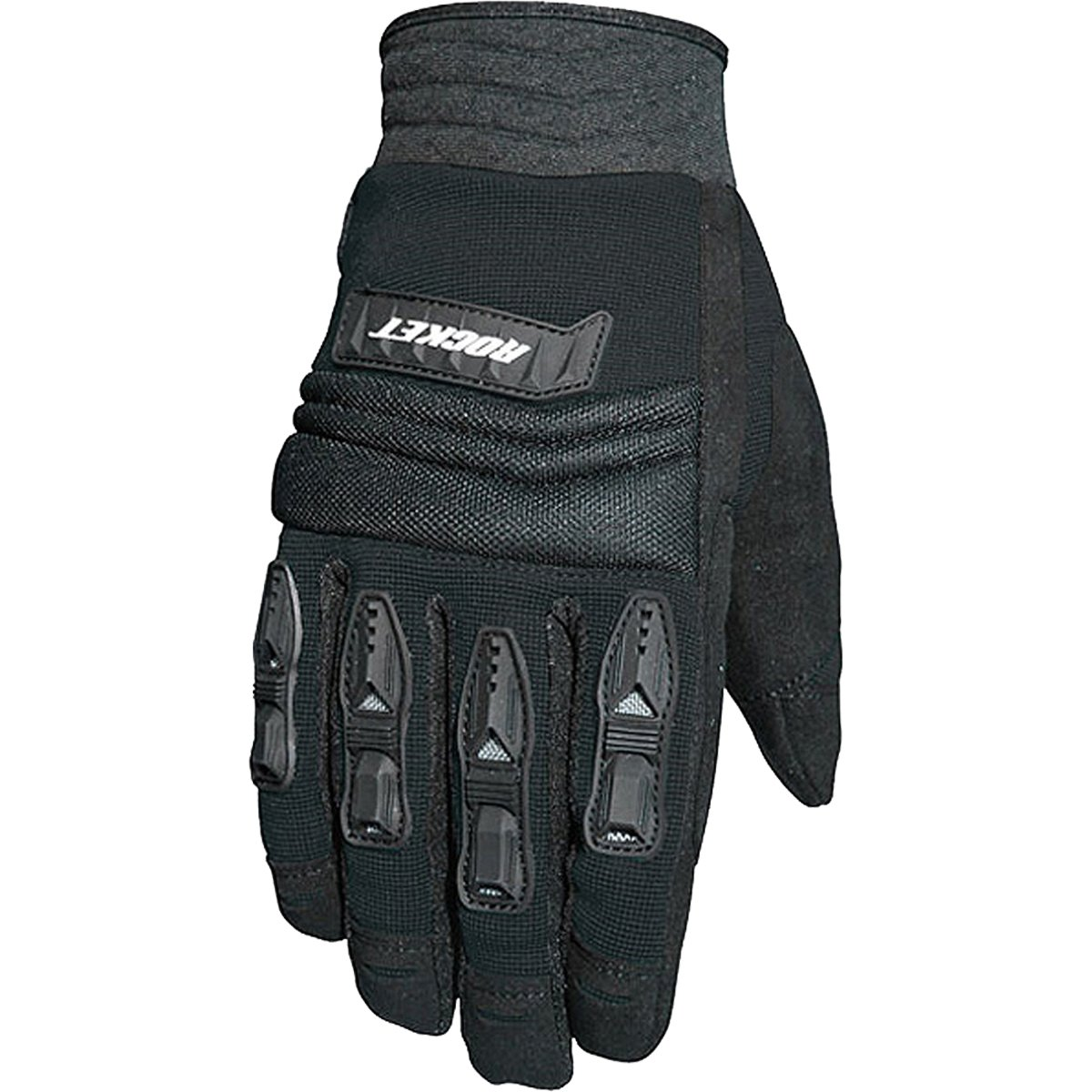 Joe Rocket Velocity Men's Textile Sports Bike Racing Motorcycle Gloves - Black/Black / 2X-Large