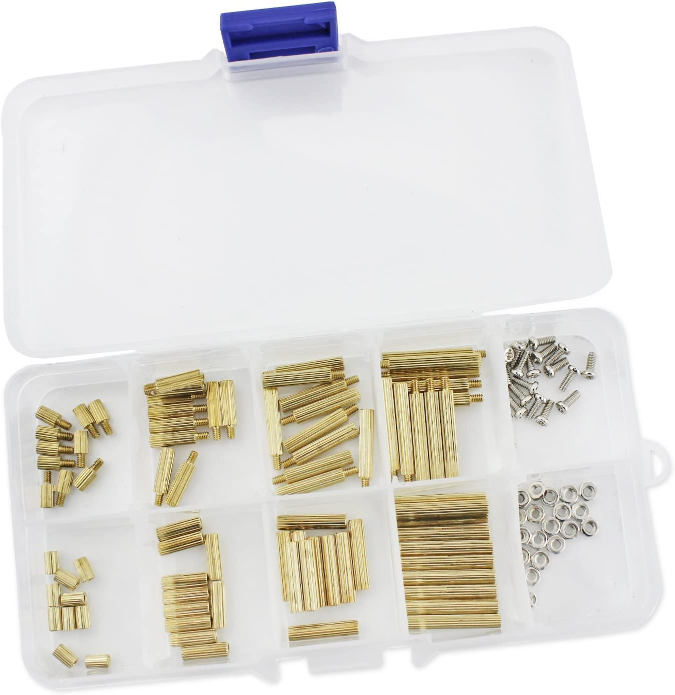 Aussel 120pcs M2 brass Spacer Standoff nut Assortment Kit by Aussel