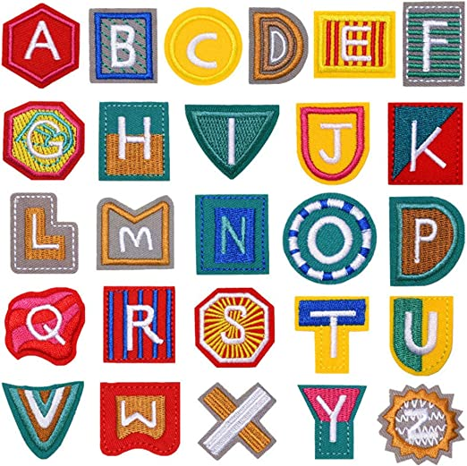 SUPVOX 26 piezas apliques parches 26 letras inglesas parches ...