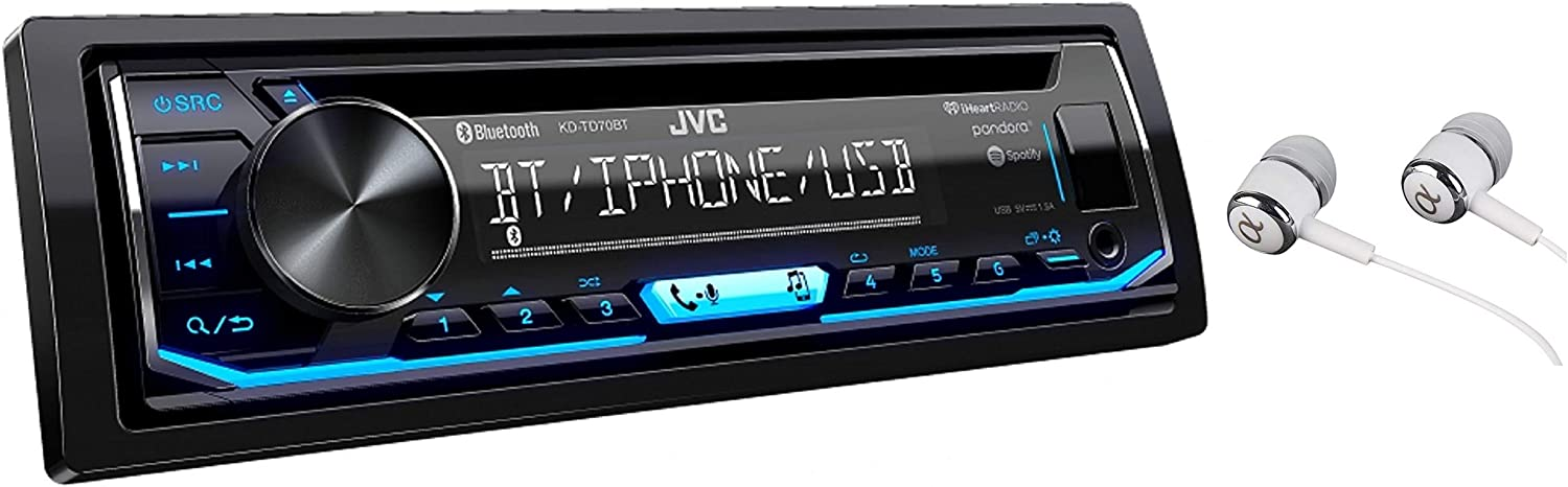 JVC KD-TD70BT Single DIN Car Stereo Receiver