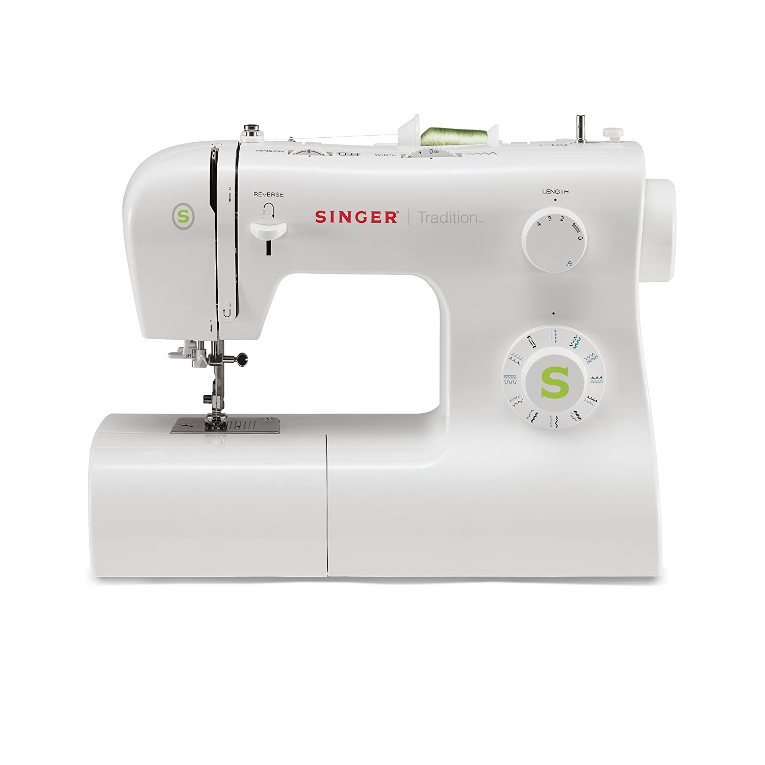Amazon.com: Singer | Tradition 2277 Sewing Machine including 23 Built-In  Stitches, Automatic Needle Threader, Snap-On Presser Feet, Automatic  Tension, ...