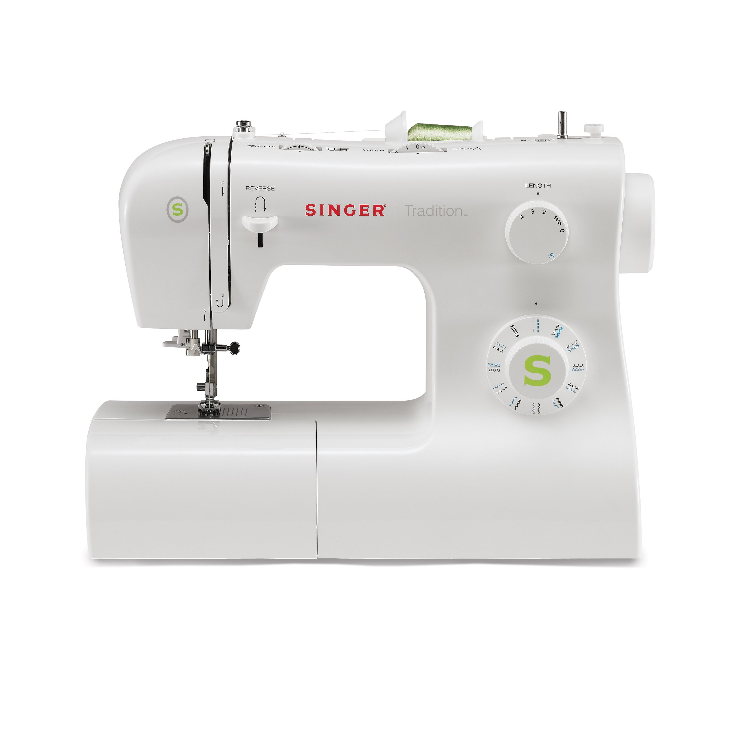 SINGER | Tradition 2277 Sewing Machine including 23 Built-In Stitches, Automatic Needle Threader, Snap-On Presser Feet, Automatic Tension, perfect for sewing all types of fabrics with ease by SINGER