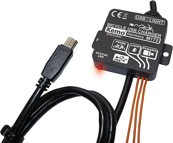 Kemo M172 - Cargador a dinamo para bicicleta (puerto Mini USB ...