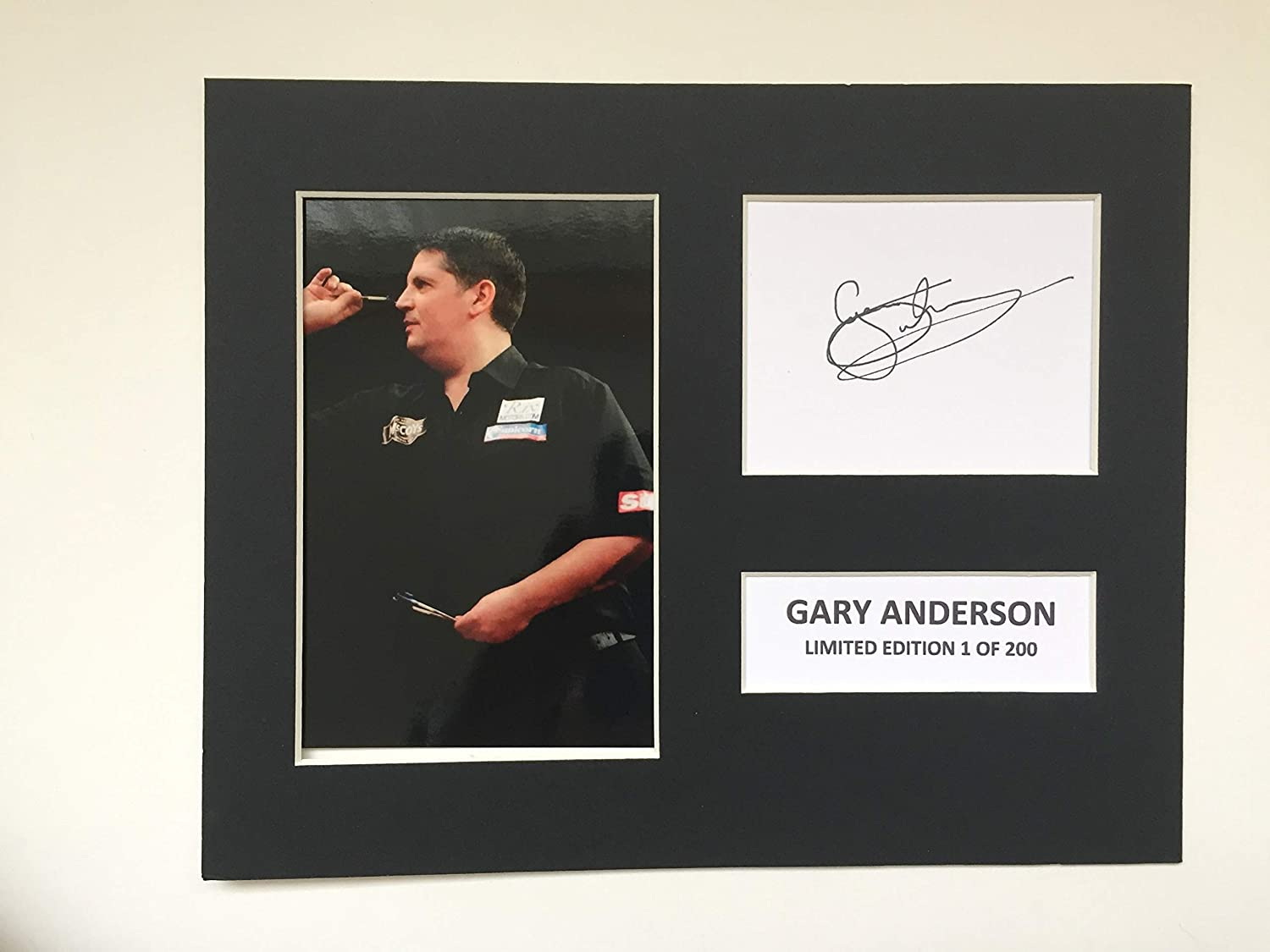 LIMITED EDITION GARY ANDERSON SIGNED DISPLAY PRINTED AUTOGRAPH BOXING AUTOGRAPH AUTOGRAF AUTOGRAM SIGNIERT SIGNATURE MOUNT FRAME