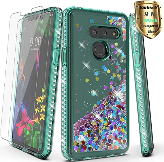 Ultra Thin Shockproof Impact Resist Durable Case -Black Full-Body Protective Rugged Bumper Cover with Built-in Screen Protector E-Began Phone Case for LG G8 ThinQ LG G8 2019 Release