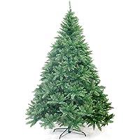 Ariv Green Hinged Christmas Tree 2.7M 9FT Xmas Tree 2695 Tips Bushy Branches Metal Stand Easy Assemble Chistmas Gift