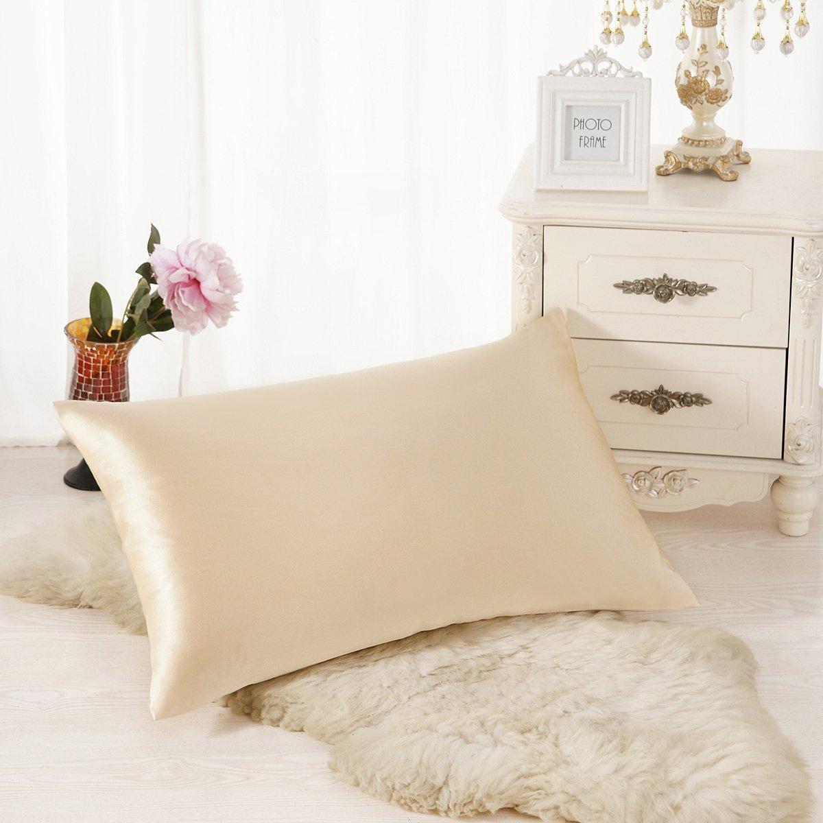 [アラスカベア]ALASKA BEAR Natural Silk Pillowcase, Hypoallergenic, 19 momme, 600 thread count 100 percent Mulberry [並行輸入品] B01LX8JU6Z Standard,Starry Night