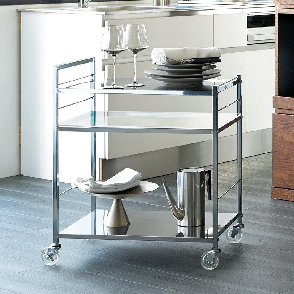 ステンレス製キッチンワゴン 幅43.5cm H24917 B0794WDBQV