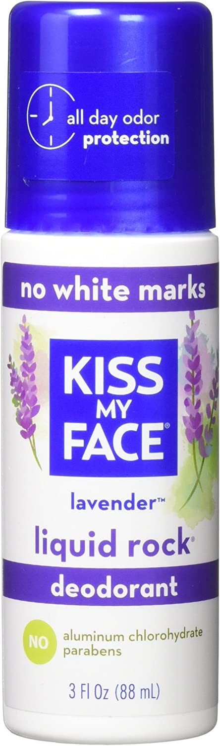 Kiss My Face Paraben Free Liquid Rock Roll-On Deodorant, Lavender - 3 oz - 2 pk