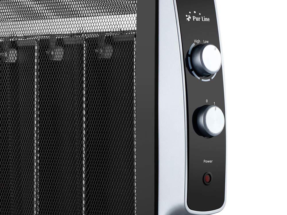 Thermostat r/églable Augmentation imm/édiate de la temp/érature PURLINE MR1500W Radiateur /électrique Basse consommation avec Panneau Mica 1500W