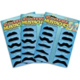 Allures & Illusions 36 Pack Fake Mustache Mustaches Novelty 36pk (Black)