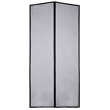 Homitt Magnetic Screen Door With Heavy Duty Mesh Curtain And Full Frame  Velcro Fits Door Size