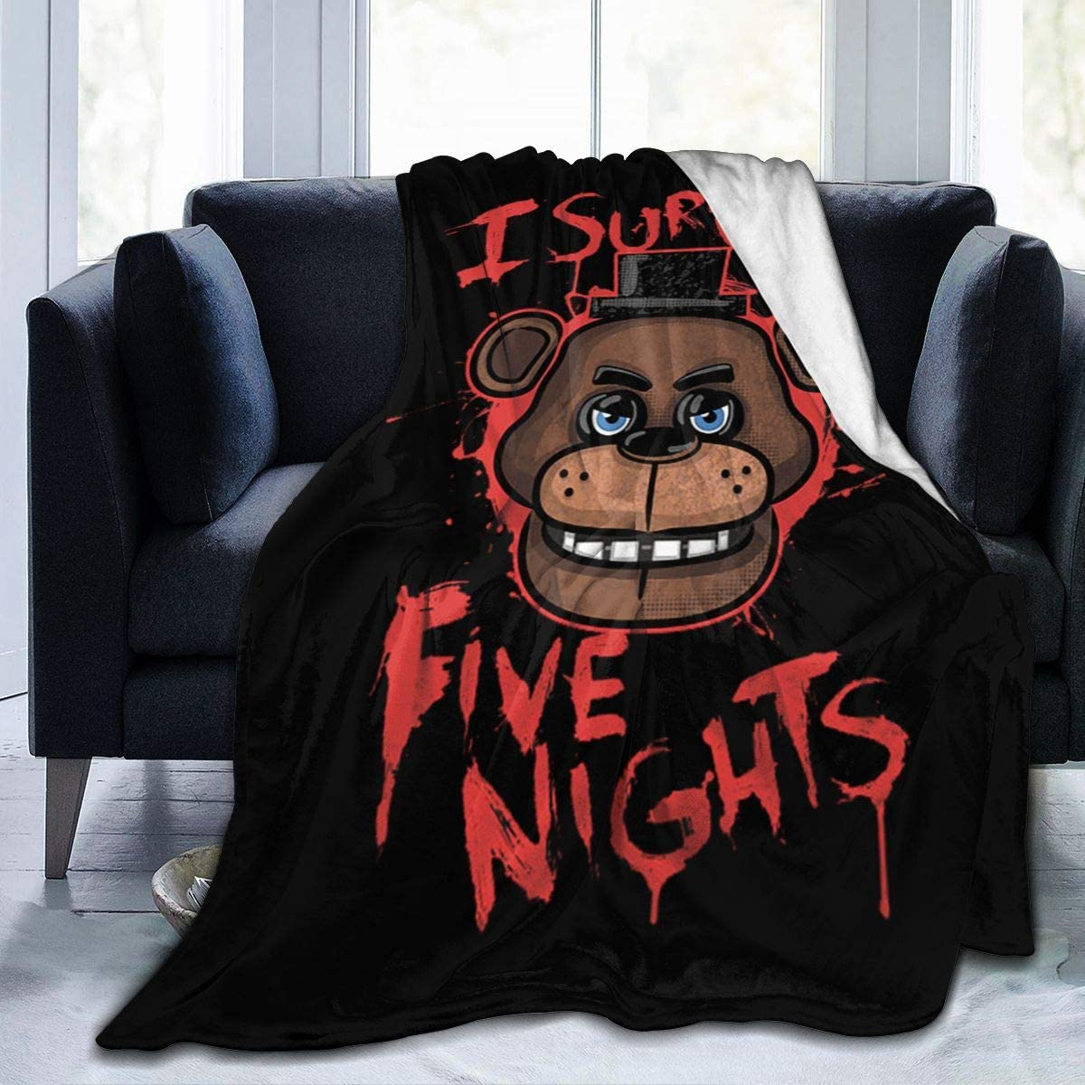 "N/C Five Nights at Freddy's Blanket,Woolen Blanket,Soft Blanketsuitable for Sofa for All Seasons. 50""X40"""