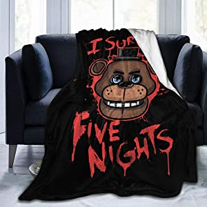 "N/C Five Nights at Freddy's Blanket,Woolen Blanket,Soft Blanketsuitable for Sofa for All Seasons. 50""X40"""