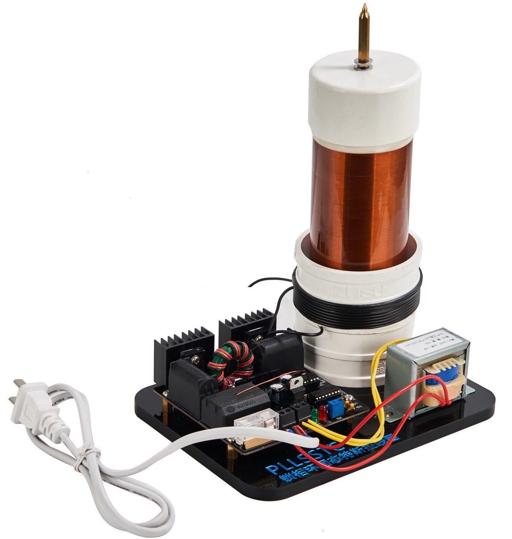 Sunnytech Solid Tesla Coil Arc Wireless Transmission Experiment Desktop Toy Model PLLSSTC TSL002