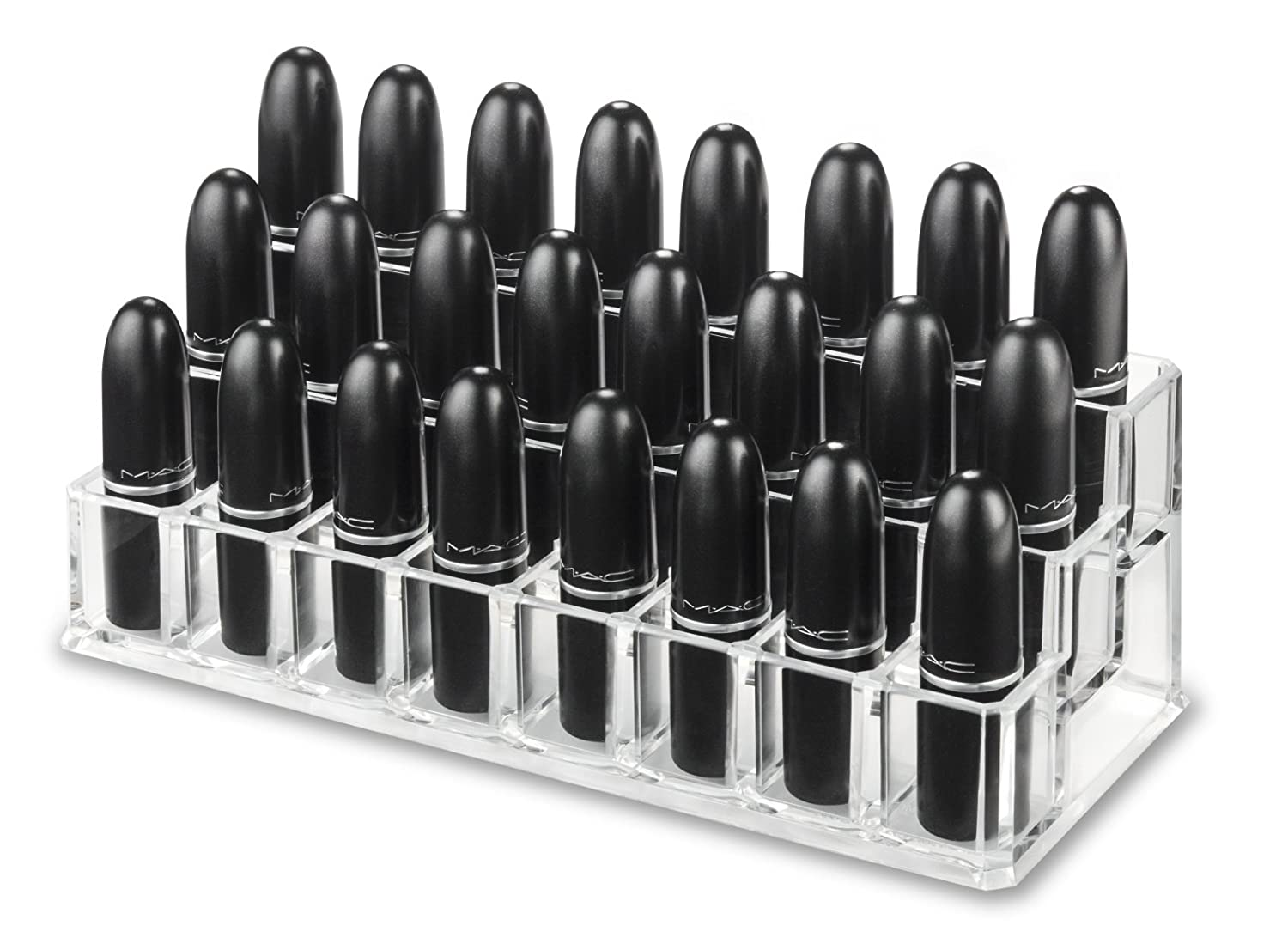 byAlegory Tiered Lipstick Organizador 24 Spaces PC-16-T