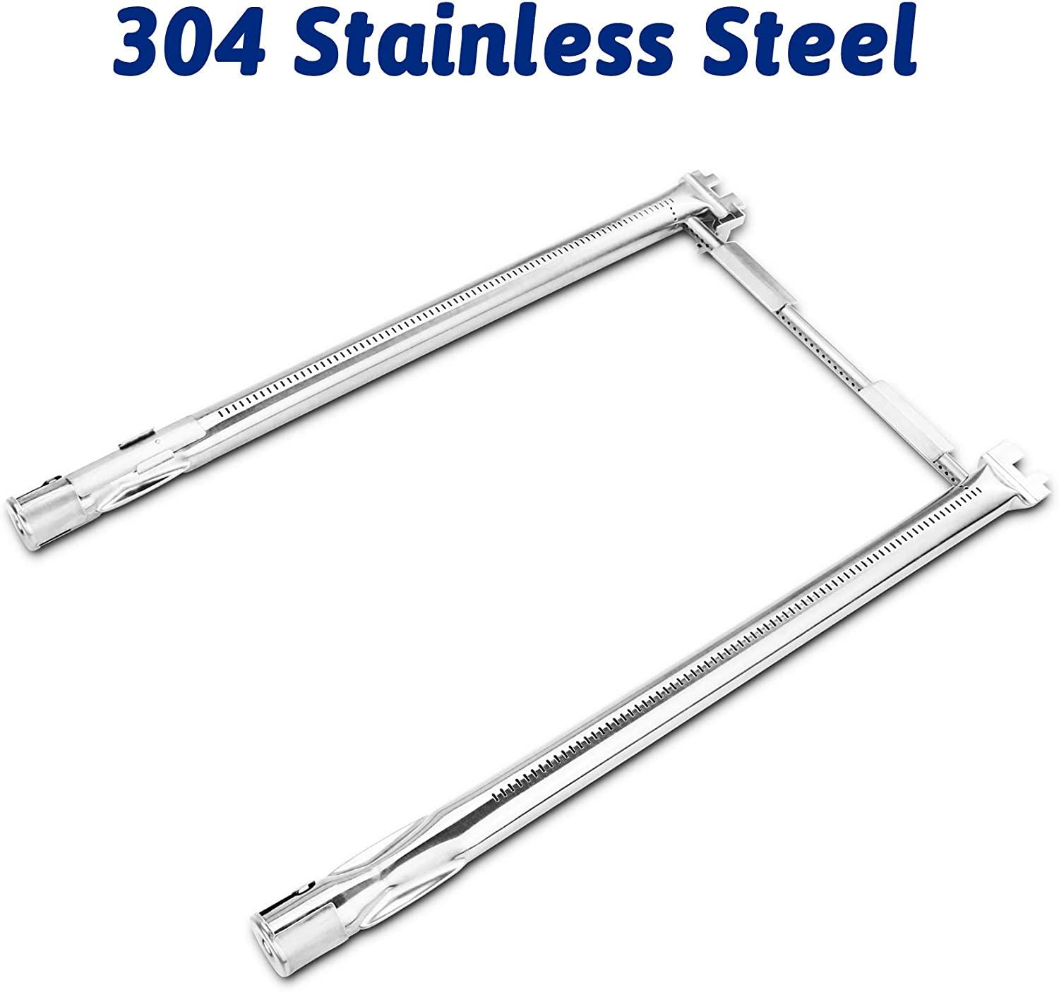 Utheer 69785 Grill Burner Tube 18 Inches for Weber Spirit 200, Spirit E210 S210 E220 S220 Series with Up Front Controls (2013 Model Years and Newer), 304 Stainless Steel