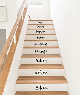 Wall Stickers Quotes Stair Stickers Stair Decals Motivational Quotes  Inspirational Home Decor Stair Art