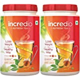 Incredio Refresh Tea - 200 g (Pack of 2, Honey Lemon)