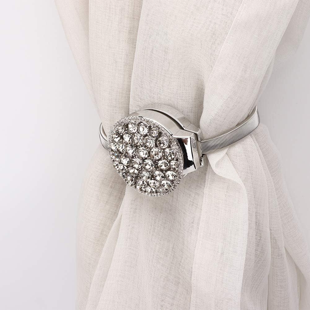 Niunion Boucle de Rideau Alliage m/énage Mode Extensible magn/étique fen/être Rideau Clips Boucle embrasses d/écoration Argent