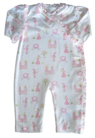 82ce3d5862 Kissy Kissy Baby-Girls Infant Enchanted Princess Print Playsuit-White With  Pink-0