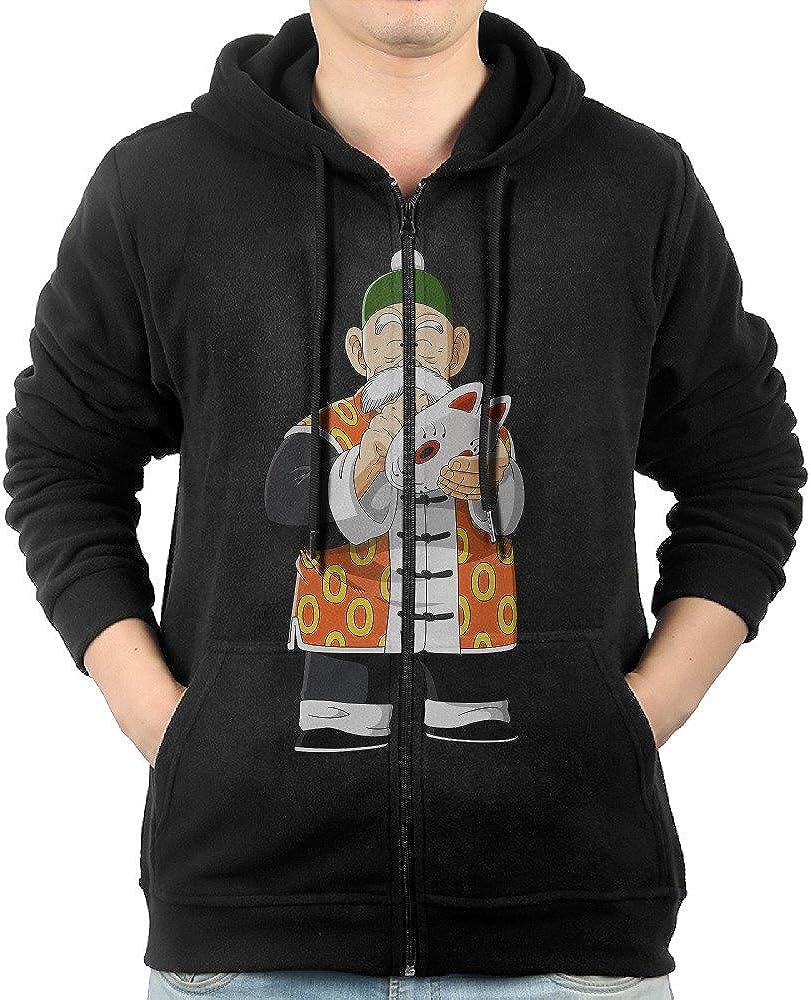 Men Dragon Ball Z Grandpa Gohan Hoodie Pullover Zip Up