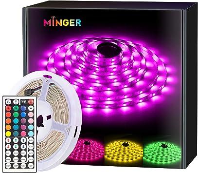 32.8ft RGB LED Light Strips Kit with Remote Control Lepro Strip Lights 16.4ft*2 Room Kitchen and TV Decoration Color Changing LED Strip Lights for Bedroom