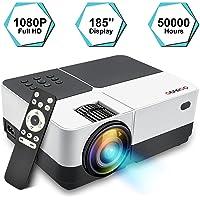 Mini Vidéoprojecteur Full HD, GEARGO 2800 Lumens Projecteur Portable, Retroprojecteur LED Supporte 1080p, Compatible avec Amazon Fire TV Stick / Ordinateur Portable / SD / Xbox / iPad iPhone/ Android