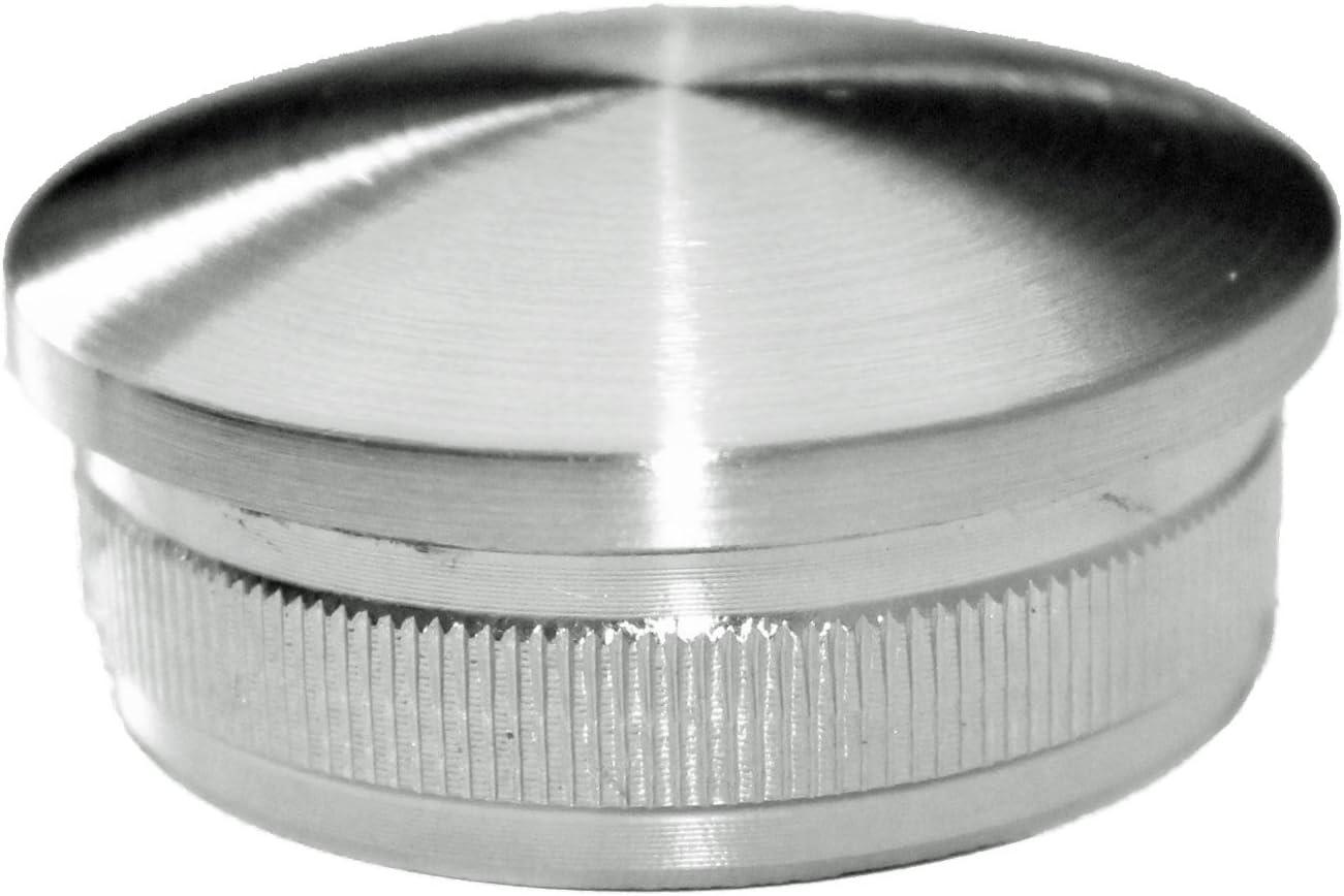 Embout de tube en inox V2A AISI 304 Forme bomb/ée 42,4 x 2/mm