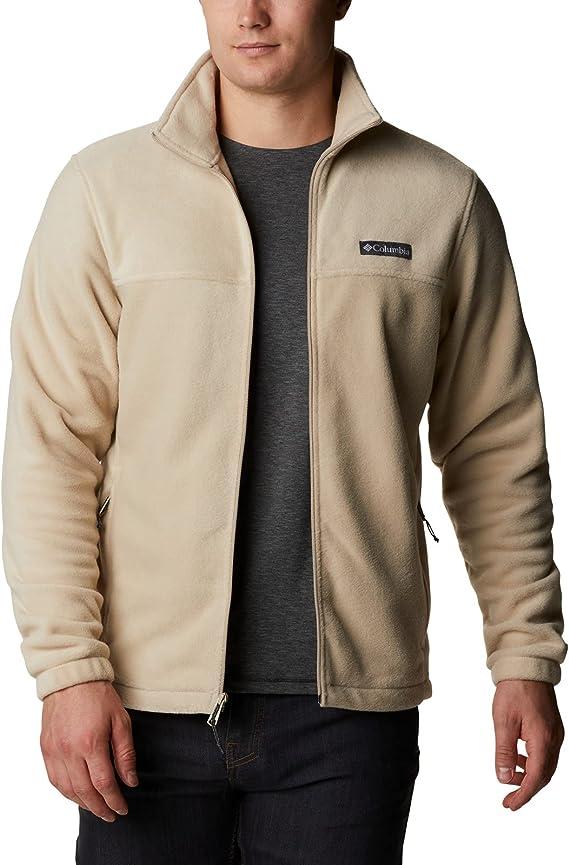 S, Gr Columbia fleece jacket with hood for men Braun peatmoss