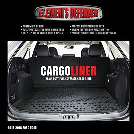 Amazon Com   Ford Edge Cargo Mat By Elements Defender Guaranteed Perfect Fit Heavy Duty All Weather Trunk Cargo Liner  Weather Proof