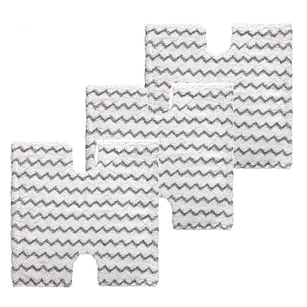 VACFIT Steam Mop Pads for Shark Lift-Away Pro S3973 S5001 S5002 Washable Steam Pocket Mop Compare with Part XTP184 Fit for Shark S5003 S6001 S6002 Replacement 3Pcs