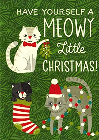 cat boxed christmas cards meowy christmas