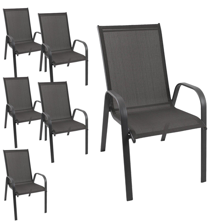 6 st ck gartenstuhl stapelbar gartensessel stapelstuhl stapelsessel stahlgestell. Black Bedroom Furniture Sets. Home Design Ideas