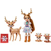 Enchantimals, Muñeca Odele Owl con familia de mascotas (Mattel GNP17)