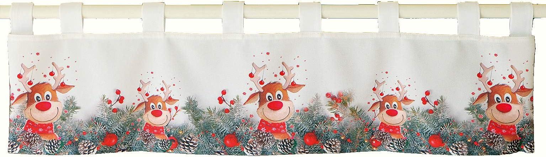 Tischdecke 110x160 cm CHRISTMAS STAR Druck-Motiv mit Sternen Weihnachten Winter
