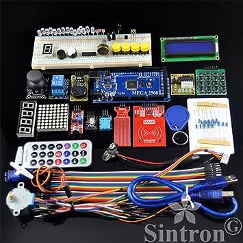 [Sintron] Mega 2560 Kit de RFID Master + Reloj en Tiempo Joystick Motor Servo LCD 5 V módulo de relé para Arduino AVR Learner: Amazon.es: Electrónica