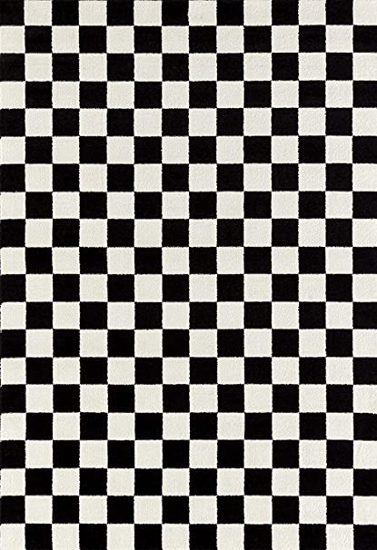 Sensational Persian Rugs 8X10 1909 Checkered Black And White 8 X 10 Area Rug Ibusinesslaw Wood Chair Design Ideas Ibusinesslaworg